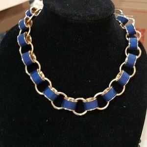 Banana Republic Blue ribbon on gold link chain